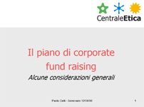 Il piano di corporate fund raising